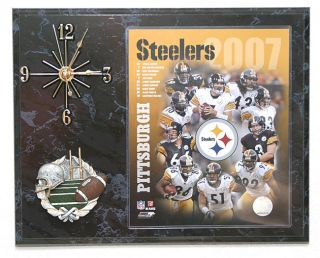 2007 Pittsburgh Steelers Team Picture Clock