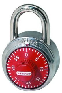 Master Lock 1504D 3 Digit Dialing Lock, Red Dial