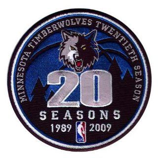 Timberwolves 20th Anniversary Logo Patch (2008 09) Sports & Outdoors