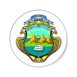 Coat of arms of Costa Rica Round Sticker