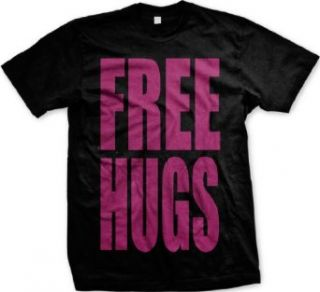 Free Hugs Neon Design Mens T shirt, Big and Bold Funny