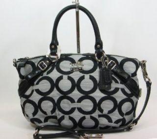 Sophia Convertiable Shoulder Bag Purse Tote 17000 Black White Shoes