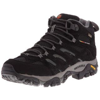 MERRELL Moab Mid GORE TEX Mens Shoes, Black, US7.5 Shoes