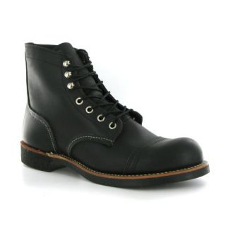 Red Wing Iron Ranger Black Leather Mens Boots Shoes