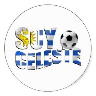 Celeste Uruguay flag Futbol soccer ball logo Sticker