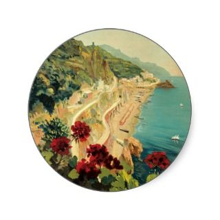 Amalfi Italia Italy Vintage Travel Poster Art 1927 Stickers