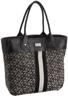 Tommy Hilfiger Ausable Large Tommy Tote,Black/Alpaca,one size Shoes