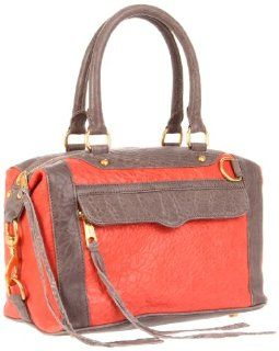 Minkoff Mab mini color block Shoulder Bag,Coral/grey,One Size: Shoes