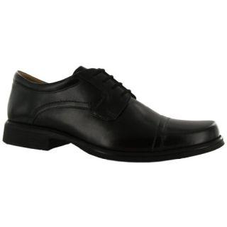 Clarks Hatche Cap Black Leather Mens Shoes Shoes