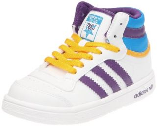 Adidas Trainers Shoes Kids Top Ten Hi I White Shoes