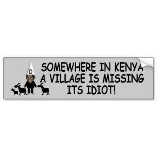 Funny Kenyan village idiot anti Obama Tees
