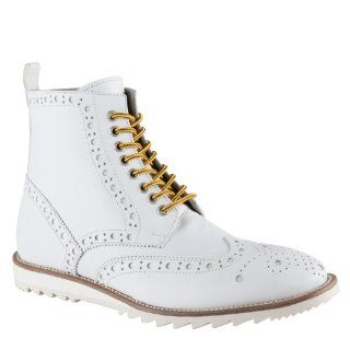 ALDO Ravetto   Men Dress Boots   White   10 Shoes
