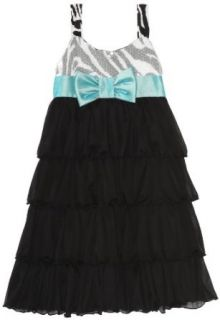 Bonnie Jean Girls 7 16 Zebra Print Bodice Dress with