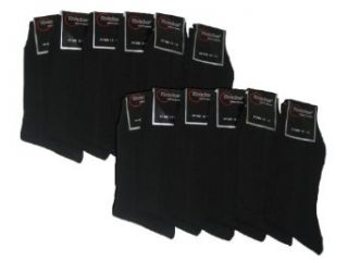 Knocker Mens Plain Dress Socks Black 12 Pairs Size 10 13 Clothing