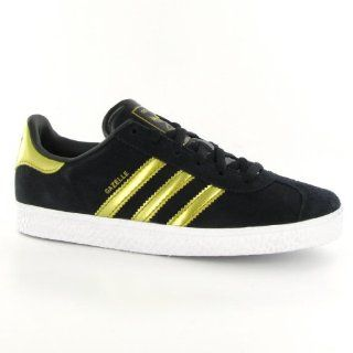 Adidas Gazelle Black Gold Kids Trainers Size 12 US Shoes