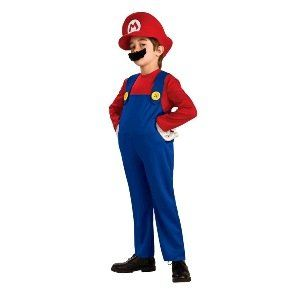 (Mario) Deluxe Child Halloween Costume Size 12 14 Large Clothing