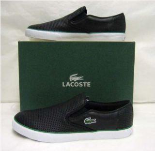 Lacoste Lyndon Slip  On 2 Black Leather Mens Shoes 13 Shoes