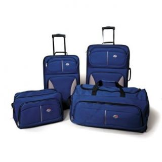 American Tourister Fieldbrook 4 Piece Luggage Set, Cobalt