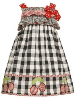 Bonnie Jean Girls 2 6X Ruffle Bodice Seersucker Dress