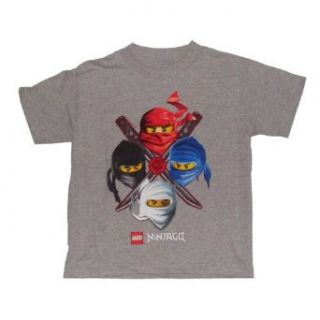 Lego Ninjago 4 Ninja Profile Boys T shirt (S (4), Grey