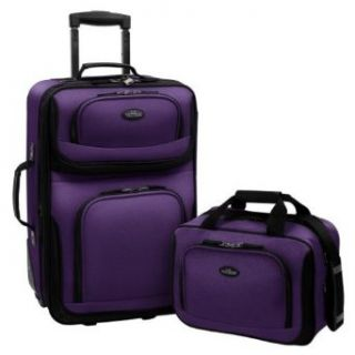 US Traveler Rio Two Piece Expandable Carry On Luggage Set