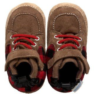 Boot (Infant/Toddler),Coffee/Red,12 18 Months (5 M US Toddler) Shoes