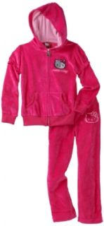 Hello Kitty Girls 7 16 Velour Active Set with Mini Sequin