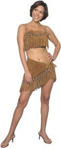 Little Fawn Native American Indian Leather Adult Costume