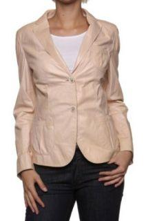 Hugo Boss Leather Jacket LE492, Color Light Pink, Size