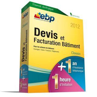 LOGICIEL BUREAUTIQUE EBP Devis et Factu. Bâtiment Classic 2012 + VIP