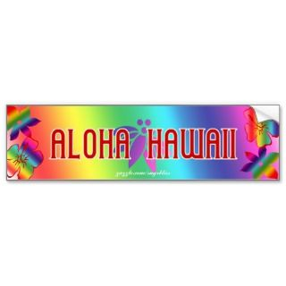 Aloha Hawaii Bumper Sticker
