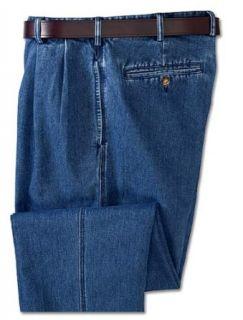 Denim Pleated Chinos Clothing