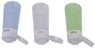 humangear GoToob Travel Bottles, 3 pack, Clear/Blue/Green