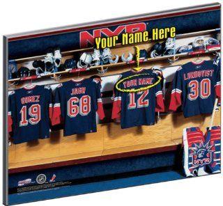 New York Rangers Customized Locker Room 12x15 Laminated