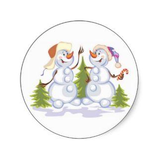 Christmas snowman sticker