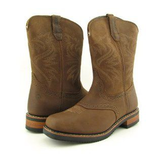 WOLVERINE 2393 Lonestar Wellington Brown Boots Mens 8 Shoes