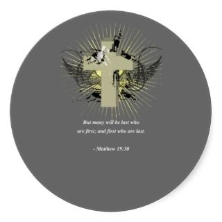 MATTHEW 1930 Bible Verse Round Sticker