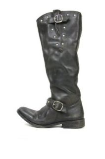 Golden Goose Womens Kate Black Distressed Motorcycle Boots