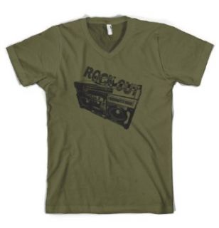 (Cybertela) Rock Out Boombox Mens V neck T shirt Funky