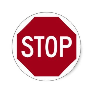Stop Sign Stickers, Stop Sign Sticker Designs