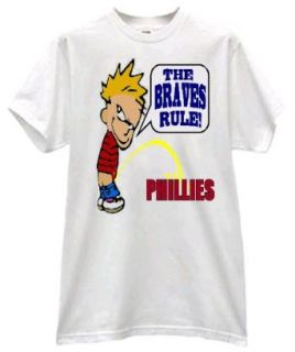 GO BRAVES FAN PRIDE BOY PEE ON THE PHILLIES BASEBALL T