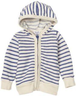 Splendid Littles Nautical Stripe Zip Hoodie French Blue