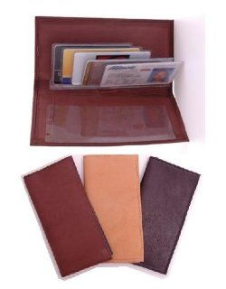 Leather Checkbook Cover (Brown) Shoes