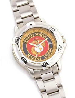 4227 MARINE CORP LOGO QUARTZ WATCH Clothing
