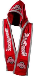 Ohio State Buckeyes 2011 Team Stripe Hooded Knit Scarf w
