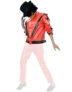 Adult Large Red Pleather Michael Jackson Costume Jacket