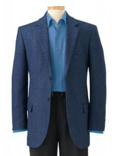 TravelSmith Mens Donegal Tweed Sport Coat Blue 42 Long