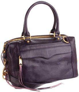 Rebecca Minkoff Mab Lizard Shoulder Bag,Purple,One Size: Shoes