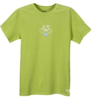 Life is good Womens Crusher Tee   Peace Bicycle (Spring