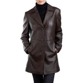 BGSD Womens New Zealand Lambskin Leather Walking Coat
